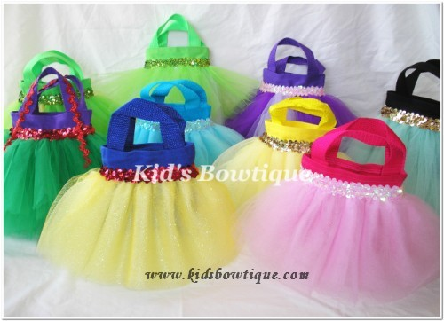 Disney Princess Birthday Party Favor Tutu Bags Purses Tutu Purses