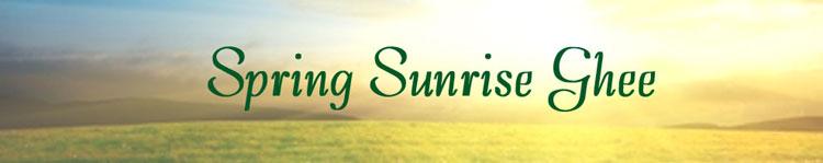 Spring Sunrise Ghee