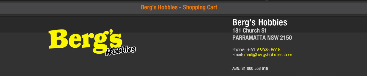 Bergs Hobbies Shopping
